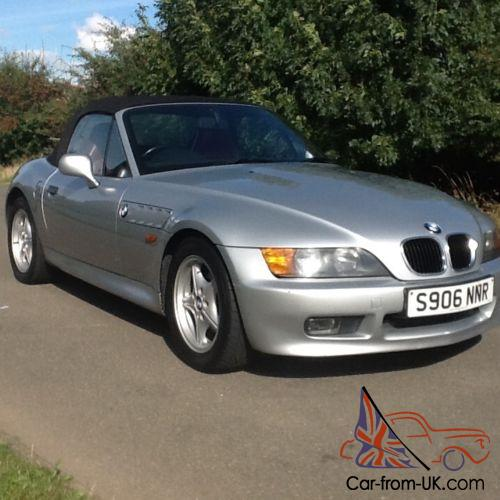 Bmw Z3 For Sale: BMW Z3 1.9 CONVERTIBLE SILVER WITH RED LEATHER