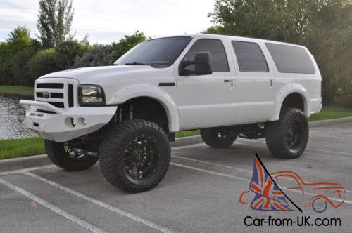 2005 ford excursion eddie bauer 4x4 lifted bullet proofed diesel. Black Bedroom Furniture Sets. Home Design Ideas