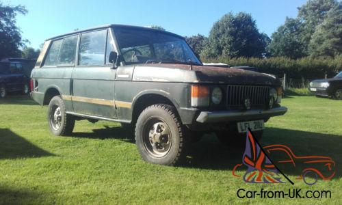 early suffix b 2 door range rover classic & lots of parts, tax