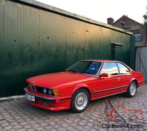 1989 bmw 635 csi highline e24 auto red one owner full. Black Bedroom Furniture Sets. Home Design Ideas