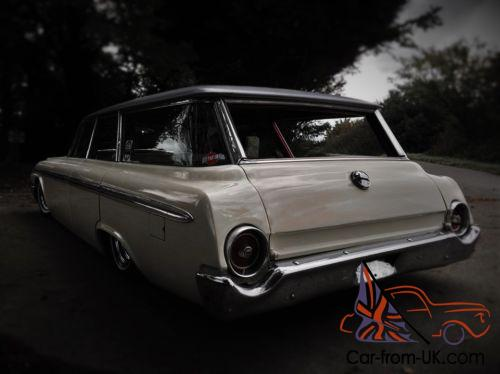 1962 Ford Galaxie station wagon hot rod low rider 454 big blow bagged american