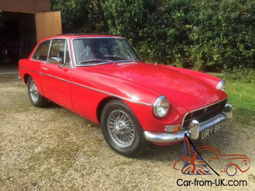 mgb gt 1970 12 months mot genuine chrome bumper wires sunroof o d. Black Bedroom Furniture Sets. Home Design Ideas