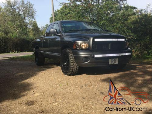 american dodge ram 1500 gunmetal grey off road 4x4 style pick up truck. Black Bedroom Furniture Sets. Home Design Ideas