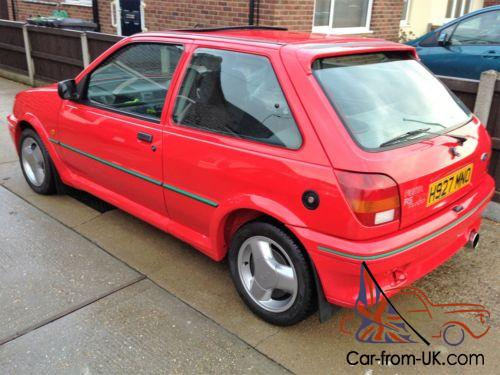 ford fiesta rs turbo 1991 red miles fsh. Black Bedroom Furniture Sets. Home Design Ideas