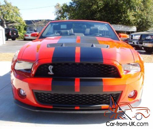 2011 Ford Mustang Shelby Gt500 Convertible 950 Built Only 201 Red