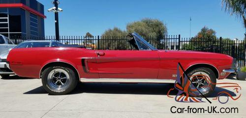 1968 Ford Mustang Gt Convertible Immaculate Cond For Age Photo