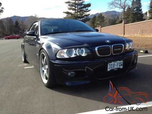2004 bmw m3 e46 m3 carbon black with black leather interior