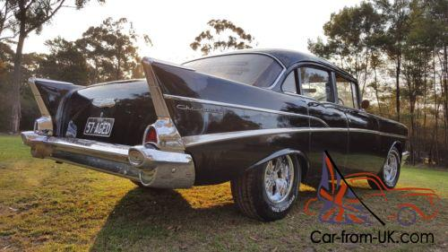 57 chevy rhd factory black stock 6 cyl man nsw rego may tde holden