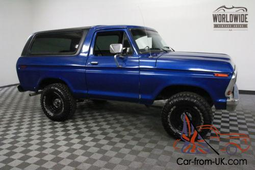 1979 Ford Bronco CONVERTIBLE BIG BLOCK RARE 2ND GENERATION