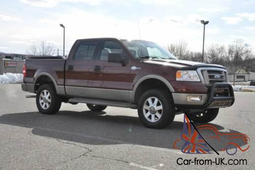 2005 ford f 150 4x4 king ranch crew cab 5 4l triton loaded clean. Black Bedroom Furniture Sets. Home Design Ideas
