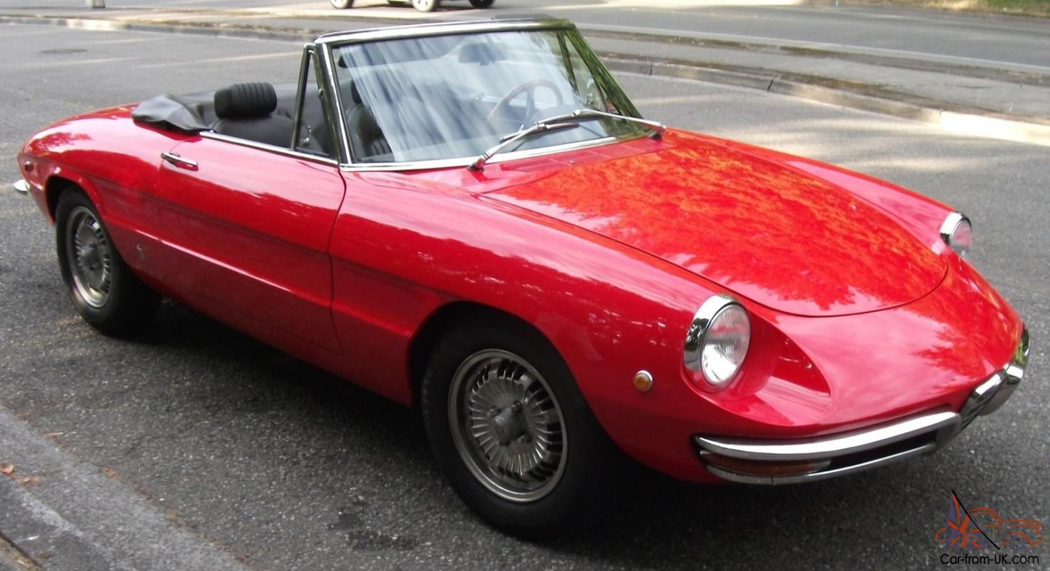 1969 red alfa romeo 1750 spider veloce. Black Bedroom Furniture Sets. Home Design Ideas