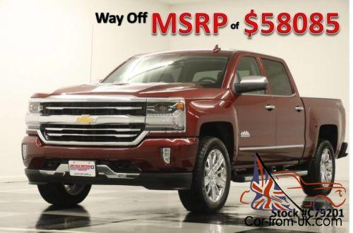 2017 chevrolet silverado 1500 msrp 58085 4x4 high country sunroof red crew. Black Bedroom Furniture Sets. Home Design Ideas