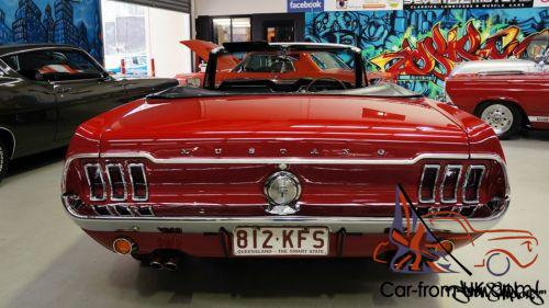 1967 ford mustang convertible rhd 347 v8 all gta options right hand drive