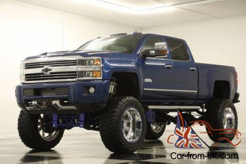 2017 chevrolet silverado 3500 hd 4x4 lifted high country diesel blue crew 4wd. Black Bedroom Furniture Sets. Home Design Ideas