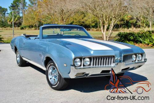 1969 Oldsmobile 442 Convertible Tribute 455 V8 Factory Air Gorgeous Photo