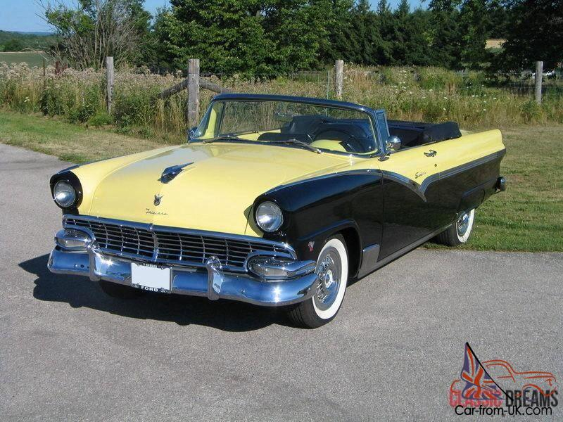 1956 ford fairlane convertible ebay. Black Bedroom Furniture Sets. Home Design Ideas