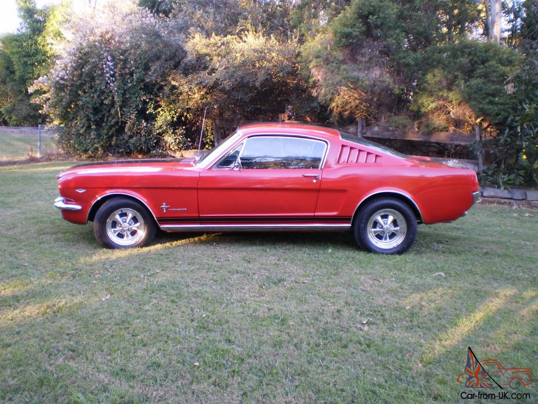 65 mustang fastback auto red with craggars and full nsw rego. Black Bedroom Furniture Sets. Home Design Ideas