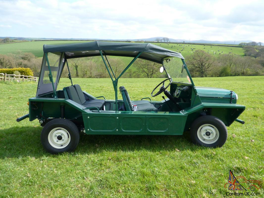 austin mini moke 1965 english moke spruce green bmc. Black Bedroom Furniture Sets. Home Design Ideas