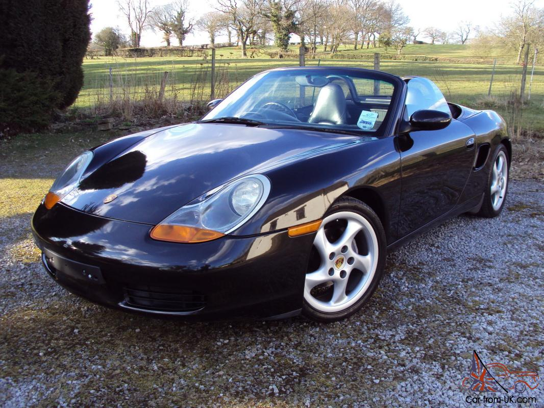 2001 porsche boxster black black hide totally original. Black Bedroom Furniture Sets. Home Design Ideas