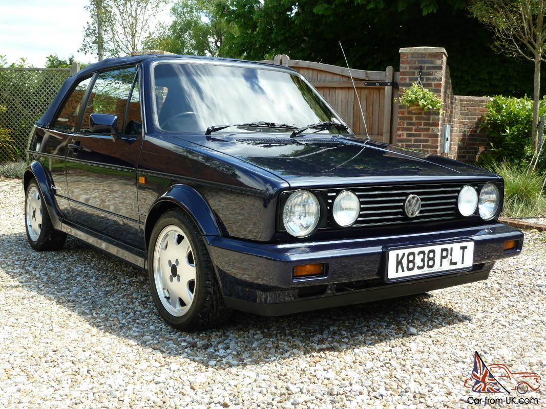 1993 volkswagen mk1 golf gti rivage karmann cabriolet ltd edt met blue. Black Bedroom Furniture Sets. Home Design Ideas