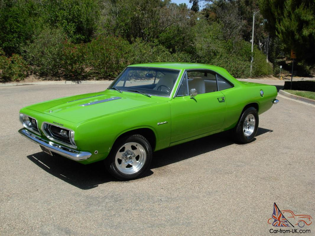 1968 plymouth barracuda 440 727 dana 60 sublime green. Black Bedroom Furniture Sets. Home Design Ideas