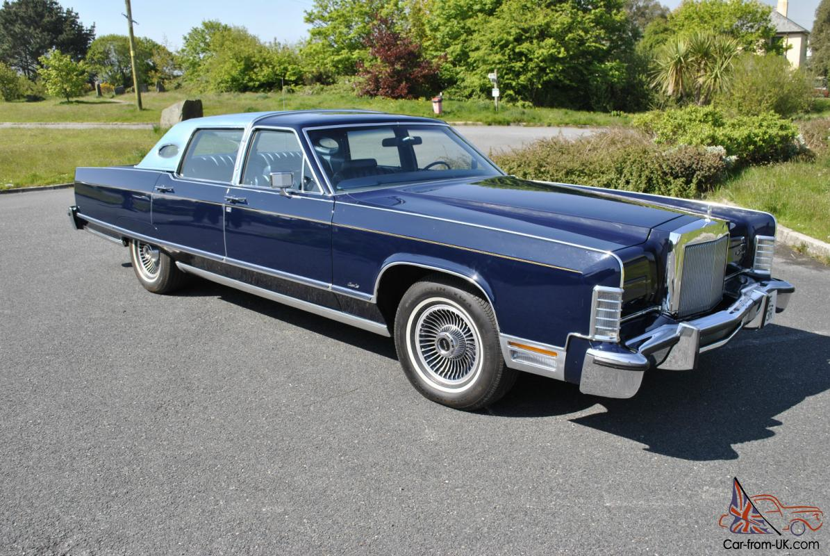 1977 lincoln town car auto blue. Black Bedroom Furniture Sets. Home Design Ideas