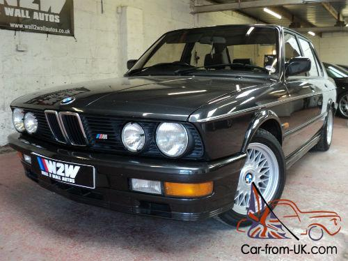 Bmw M 535i 1987 D  Diamond Black Metalic Grey Cloth Recaro
