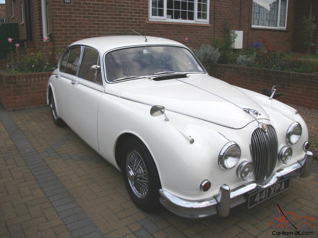 1962 jaguar mk ii jaguar mk2 3 8 manual with overdrive white. Black Bedroom Furniture Sets. Home Design Ideas