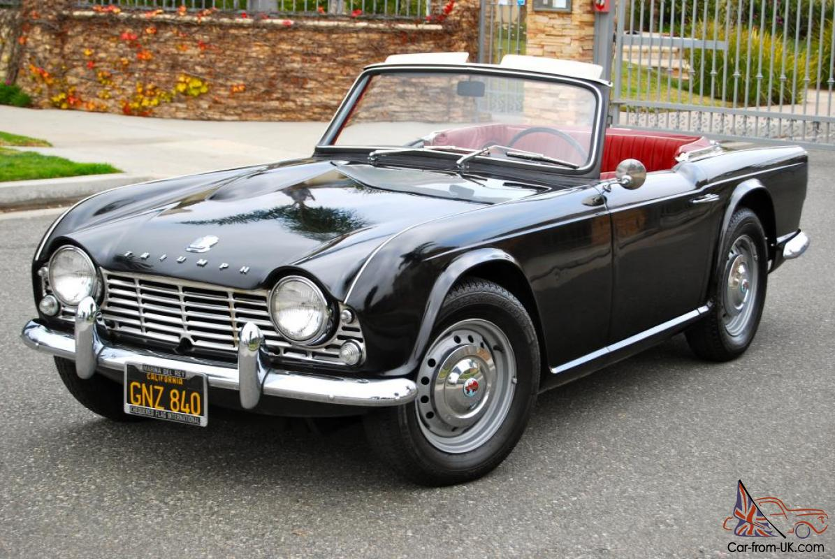 1963 triumph tr4 one owner black plate original paint. Black Bedroom Furniture Sets. Home Design Ideas