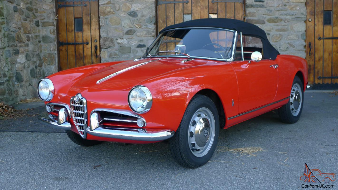 ALFA ROMEO GIULIETTA SPIDER FULLY RESTORED - Alfa romeo giulietta 1960 for sale