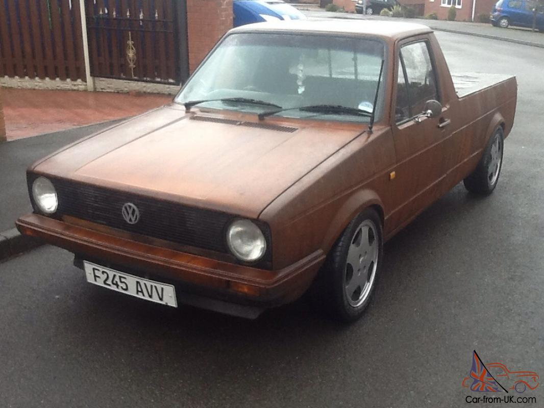 vw caddy mk1 pick up rat euro dub rusty full mot 6 tax g60 rear sliding windows. Black Bedroom Furniture Sets. Home Design Ideas