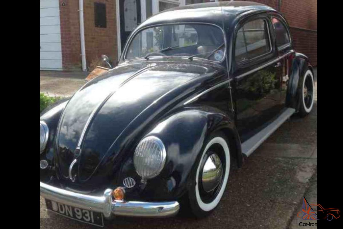 VOLKSWAGEN BEETLE 1955 OVAL WINDOW, RIGHT HAND DRIVE, BLACK, VERY RARE.