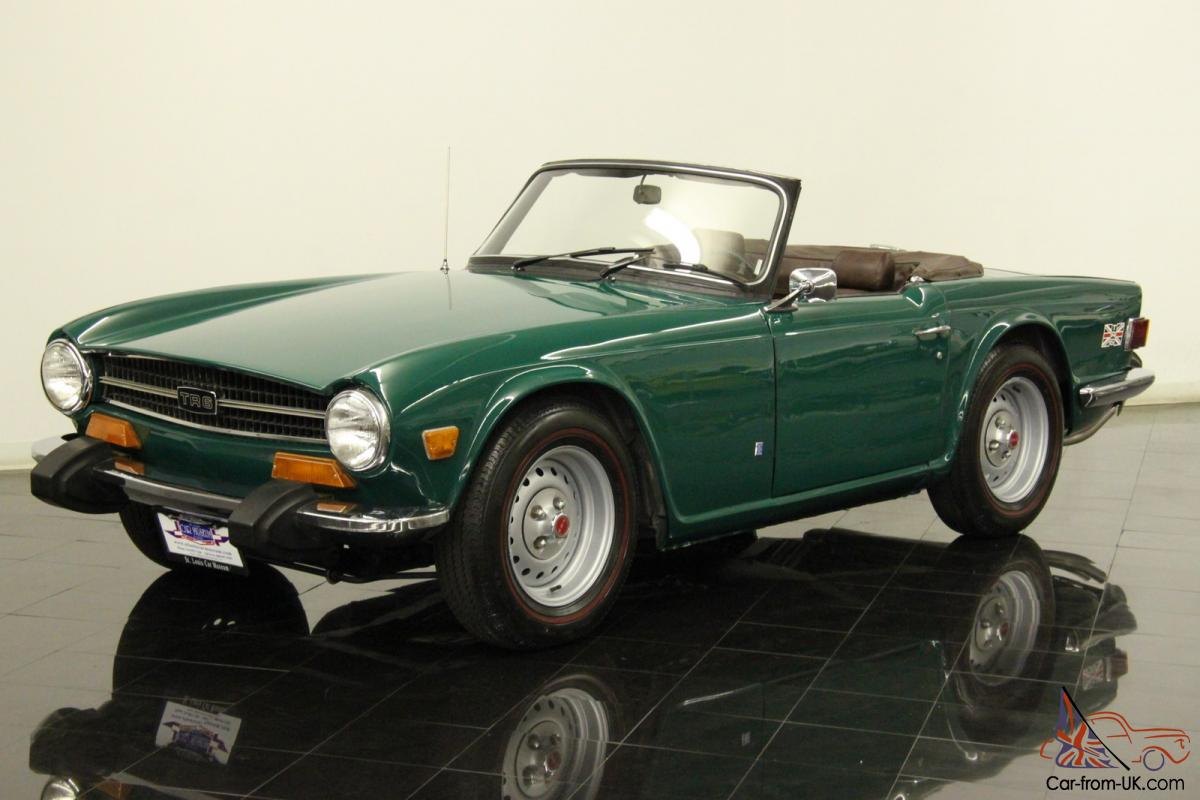 1974 triumph tr6 roadster 2498cc 6 cyl 4 speed 57k miles cosmetically restored. Black Bedroom Furniture Sets. Home Design Ideas