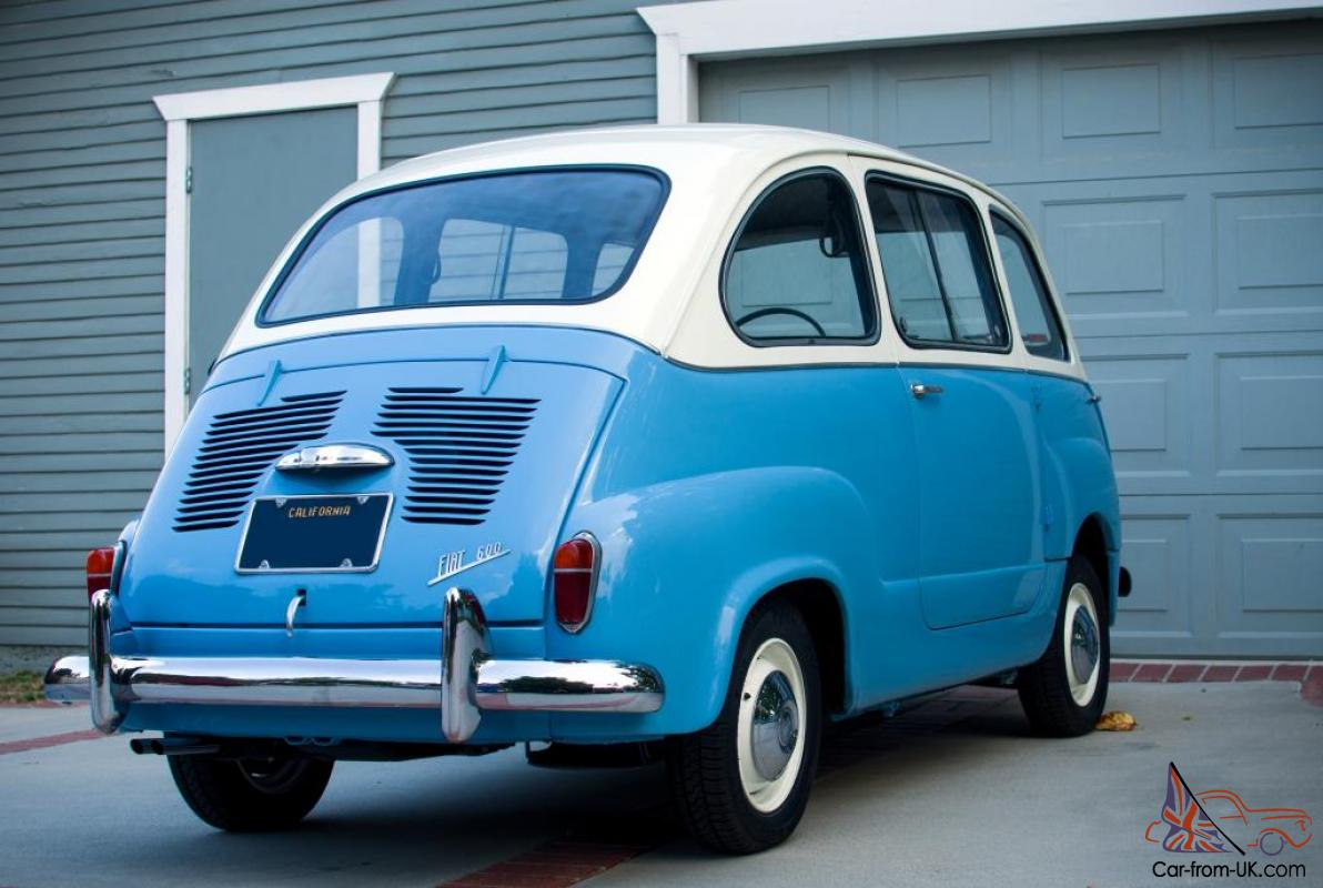 1958 fiat 600 multipla 4 door station wagon abarth 600 beautiful. Black Bedroom Furniture Sets. Home Design Ideas