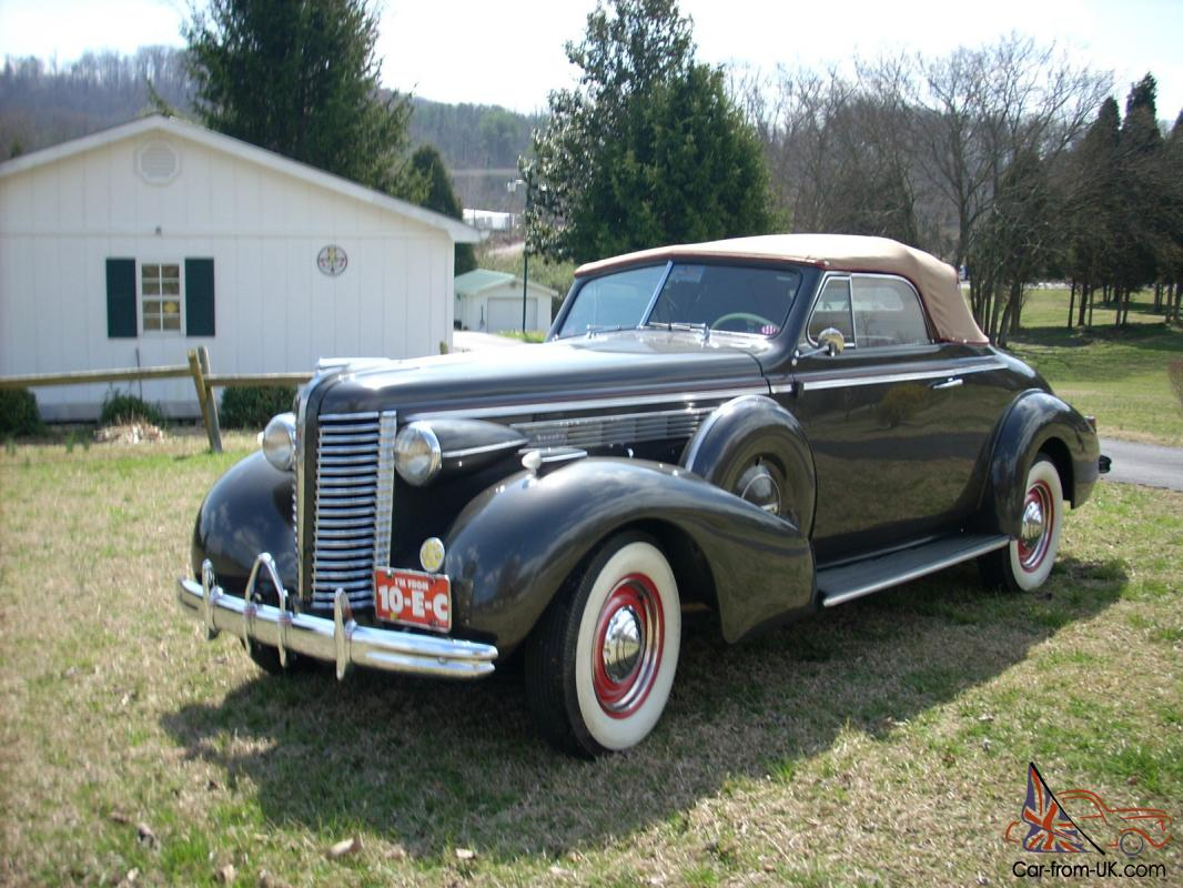 1938 Special Buick Convertible Coupe 46c With Twin Side Mounts