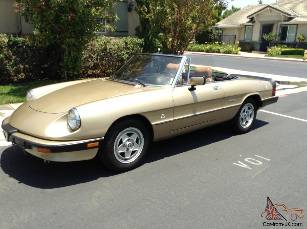 1986 alfa romeo spider veloce no reserve. Black Bedroom Furniture Sets. Home Design Ideas