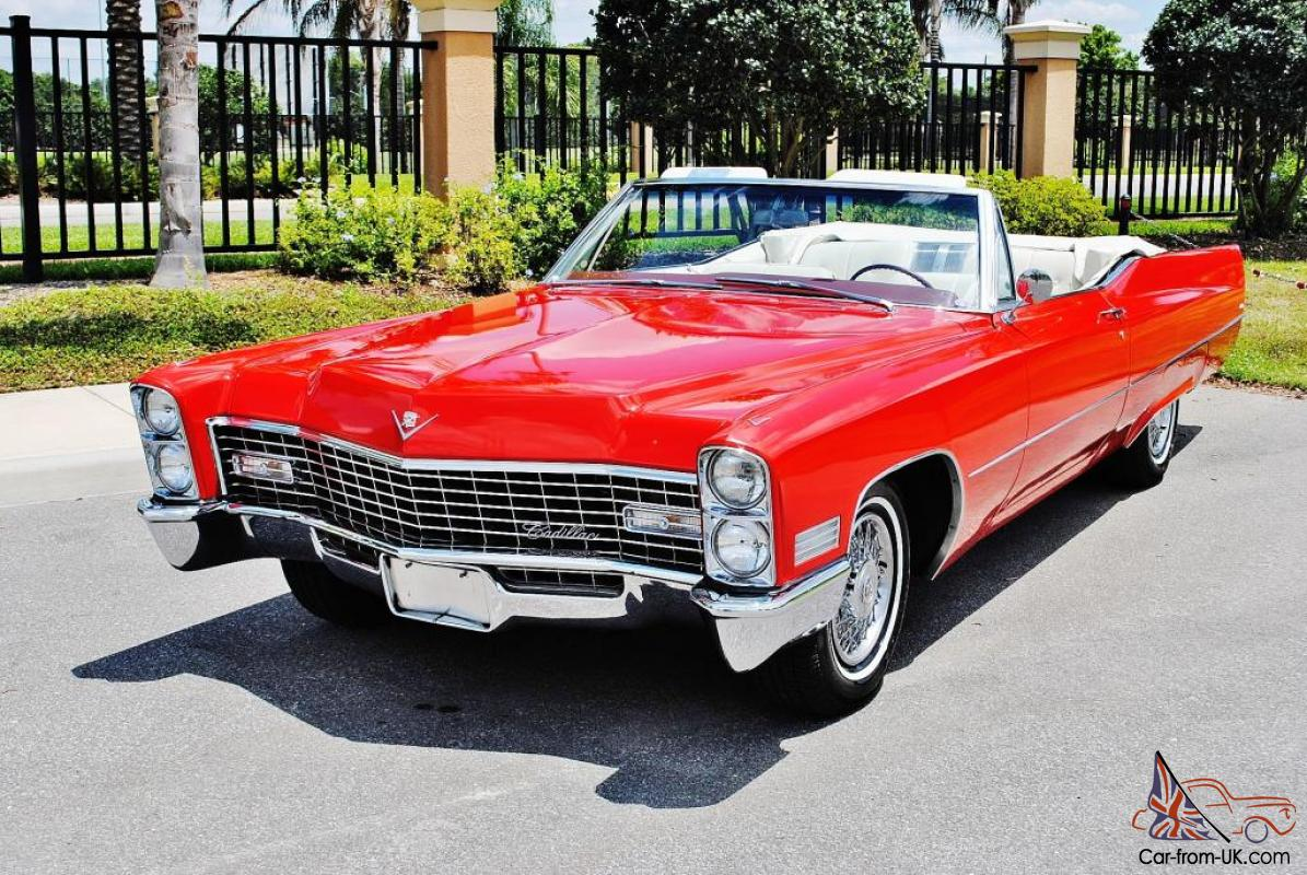absolutly beautiful red 1967 Cadillac DeVille Convertible restored