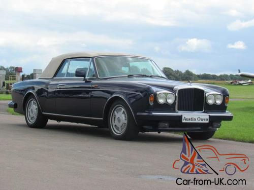 Automatic Cars For Sale Ebay Uk: 1989 F BENTLEY CONTINENTAL CONVERTIBLE 6.8 2D AUTO