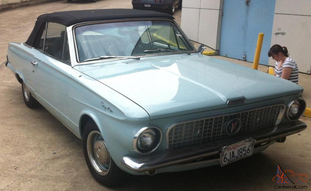 1963 plymouth valiant signet convertible power roof restored 225 push button. Black Bedroom Furniture Sets. Home Design Ideas