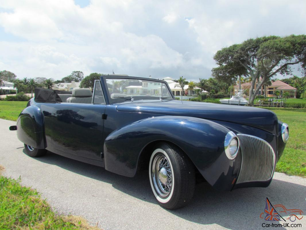 1940 Lincoln Continental Cabriolet Convertible Midnight Blue Harley Davidson Police Wiring Harness Metallic Rare