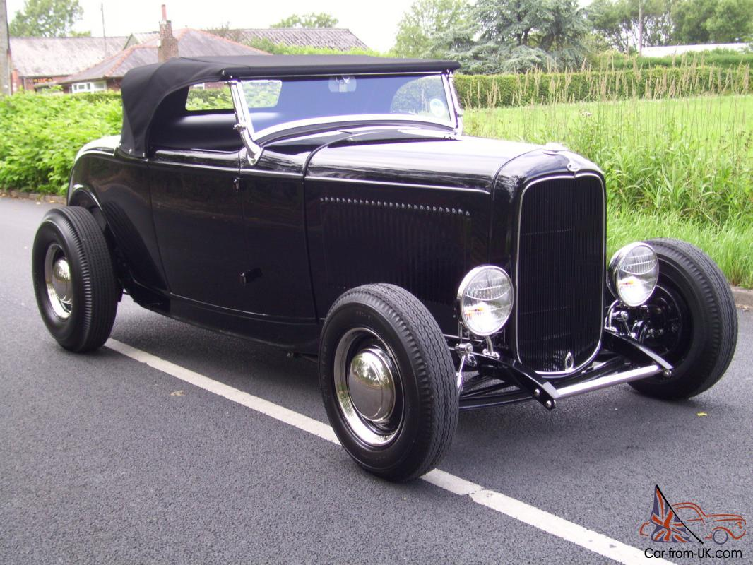1932 Ford Model B Roadster. Hotrod Custom All steel V8