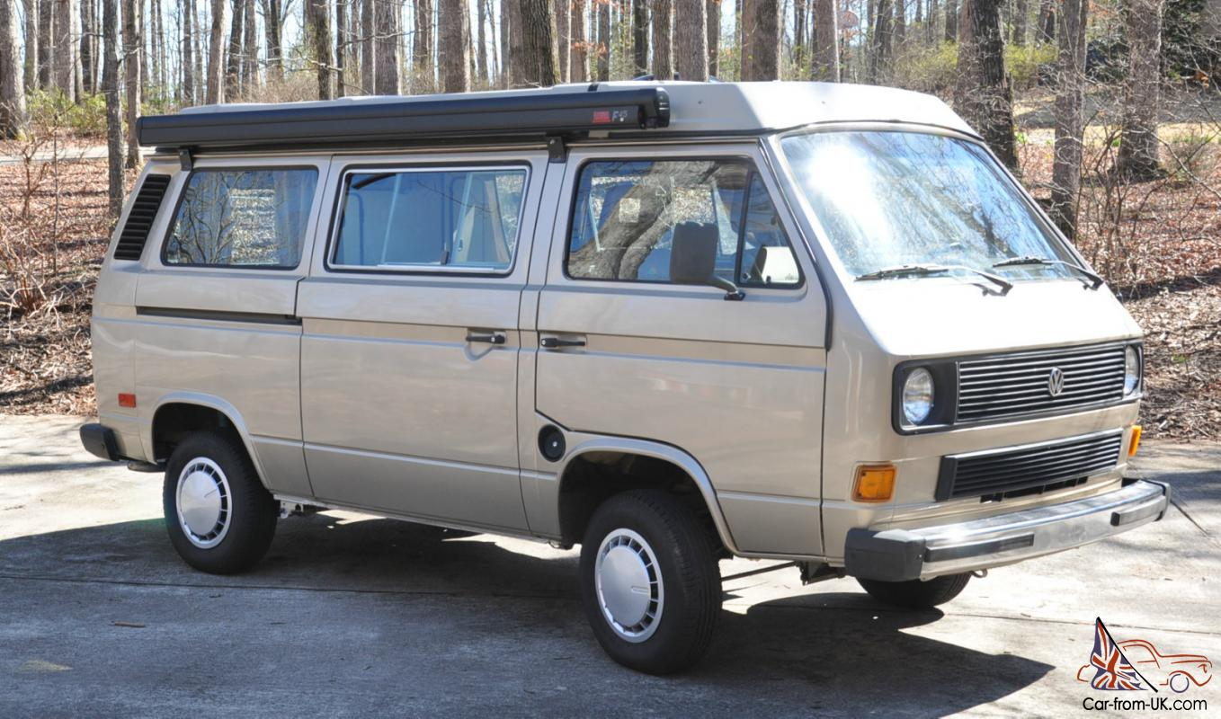 1985 Volkswagen Vanagon GL Westy westfalia pop-up camper