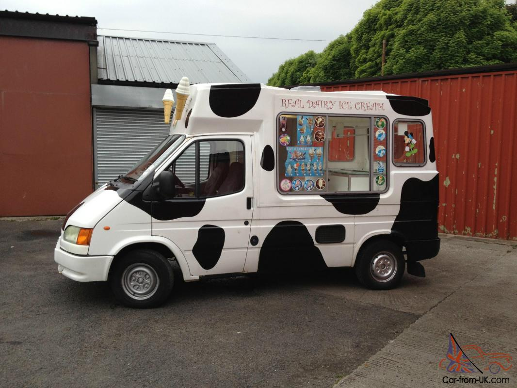 e7b062342665 Ford Transit Soft Ice Cream Van 2001 X reg Carpigiani Machine Tax Photo