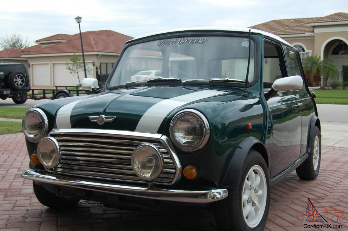 1972 green classic austin mini cooper. Black Bedroom Furniture Sets. Home Design Ideas