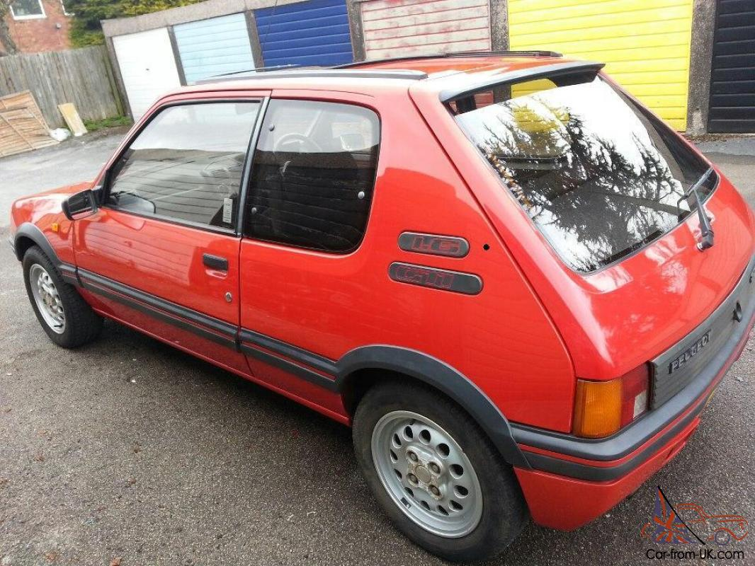 classic original 1989 peugeot 205 gti red low mileage 61000 not rs turbo. Black Bedroom Furniture Sets. Home Design Ideas