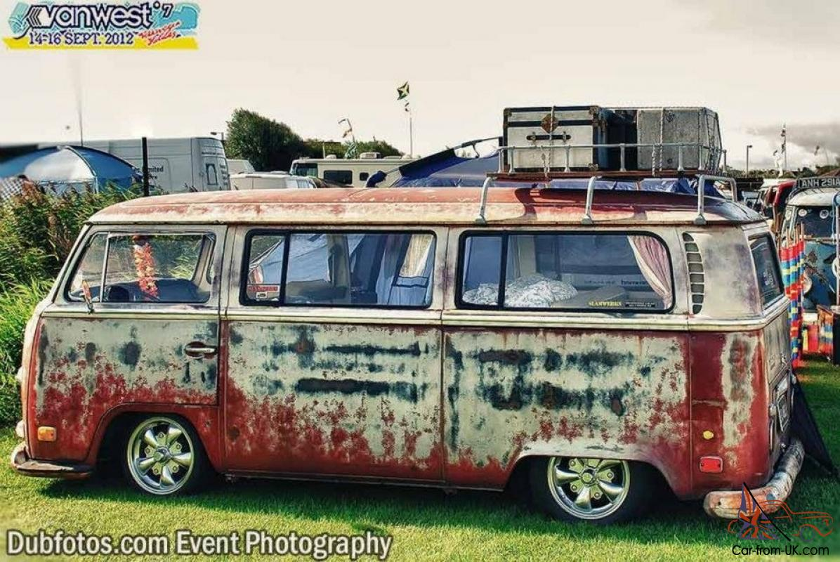 Vw T2 Early Bay Tin Top Camper Bus Not T25 T4 T5