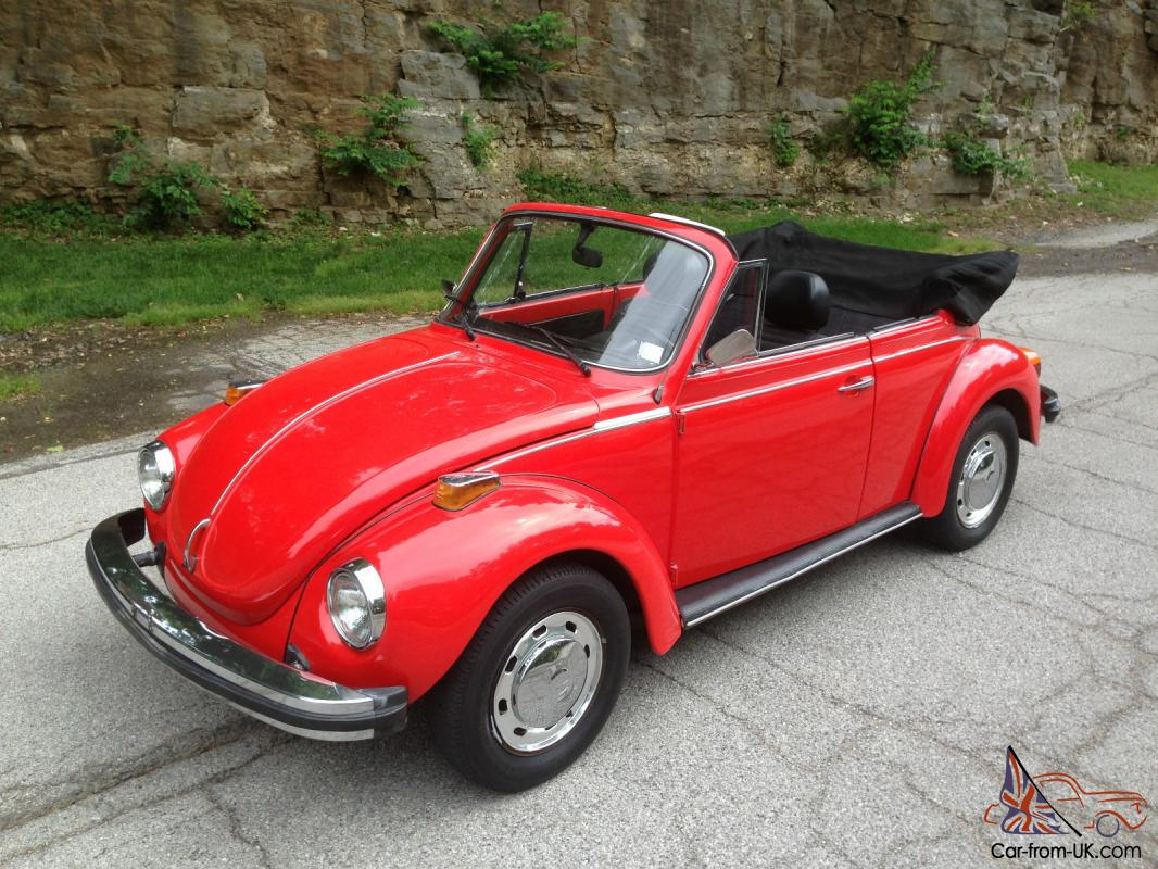 1977 Vw Beetle Convertible 90k Original Miles New Paint Motor Free Shipping