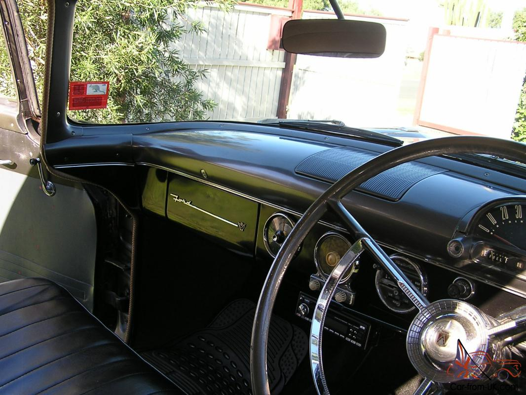 Superb img of 1957 Black Ford Customline Cussy Full VIC REG Bench Seat for sale with #2E6B9D color and 1066x800 pixels