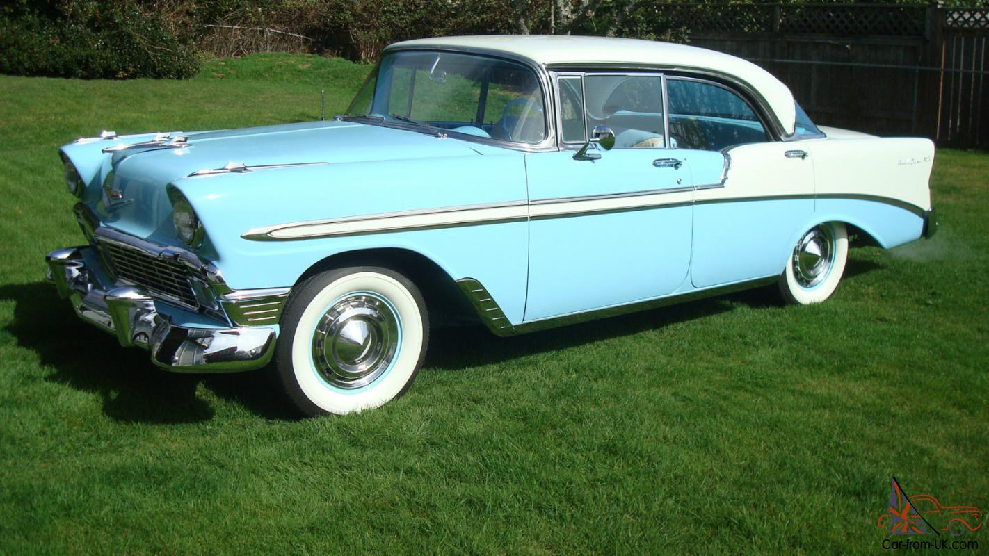 1956 chevrolet belair 4 door pillarless sedan superb
