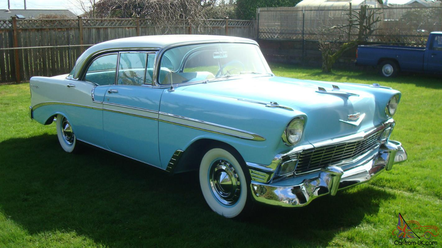 1956 chevrolet belair 4 door pillarless sedan superb for 1956 chevy belair 4 door for sale
